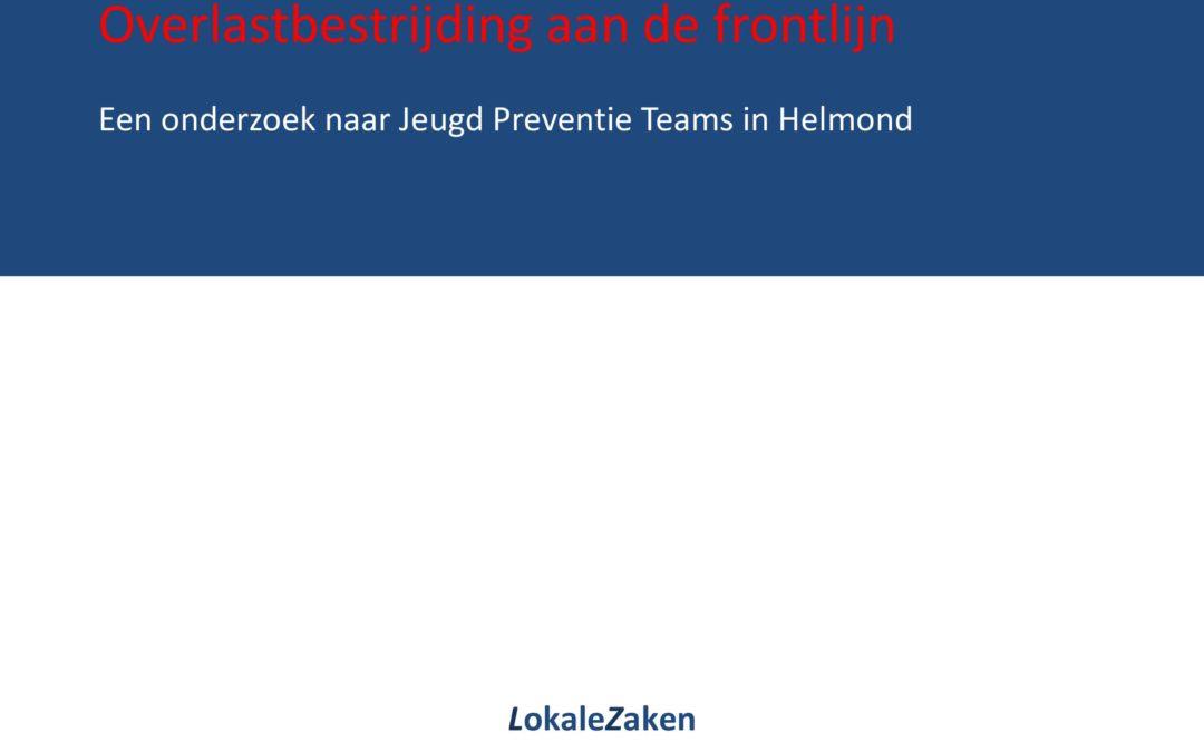 Overlastbestrijding aan de frontlijn: een onderzoek naar Jeugd Preventie Teams in Helmond, 2011.