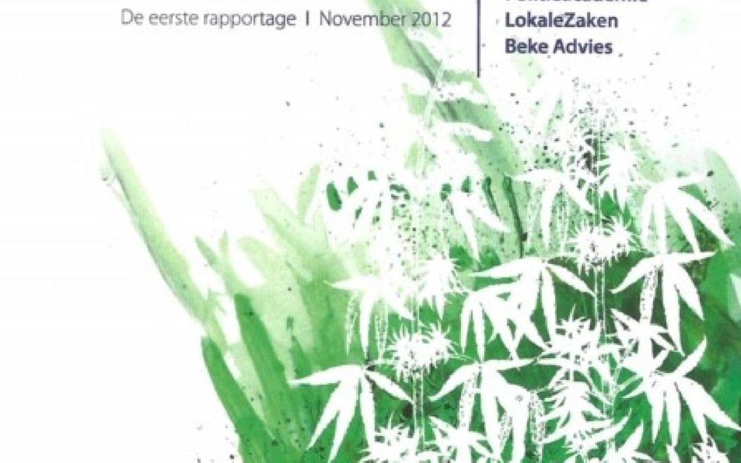 Tilburgse Taferelen. De eerste rapportage van de softdrugsmonitor Midden en West Brabant & Zeeland, 2012.