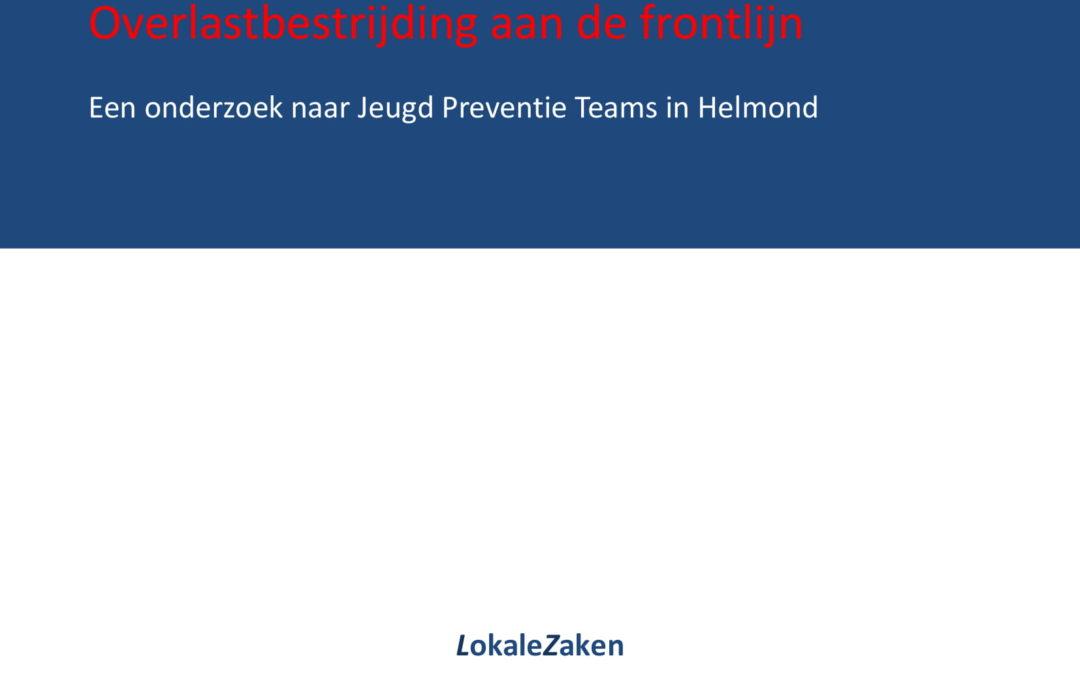 Overlastbestrijding aan de frontlijn: een onderzoek naar Jeugd Preventie Teams in Helmond, Rotterdam/Helmond, 2011.